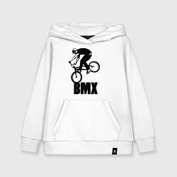 Толстовка детская хлопковая BMX 3 цвета белый — фото 1