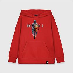 Толстовка детская хлопковая Battlefield 3 цвета красный — фото 1