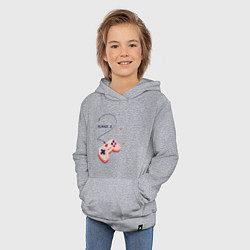 Толстовка детская хлопковая Perfect Team: Player 1 цвета меланж — фото 2