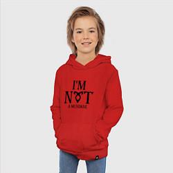 Толстовка детская хлопковая I'm not a mundane цвета красный — фото 2