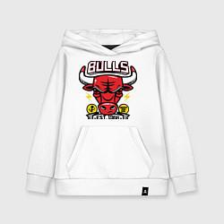 Толстовка детская хлопковая Chicago Bulls est. 1966 цвета белый — фото 1