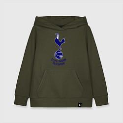 Толстовка детская хлопковая Tottenham FC цвета хаки — фото 1