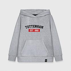 Толстовка детская хлопковая FC Tottenham Est. 1882 цвета меланж — фото 1