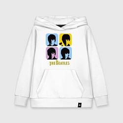 Толстовка детская хлопковая The Beatles: pop-art цвета белый — фото 1