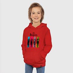 Толстовка детская хлопковая Walking Beatles цвета красный — фото 2