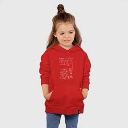 Толстовка детская хлопковая E=mc2 цвета красный — фото 2