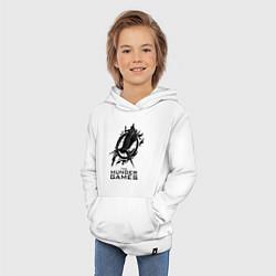 Толстовка детская хлопковая The Hunger Games цвета белый — фото 2