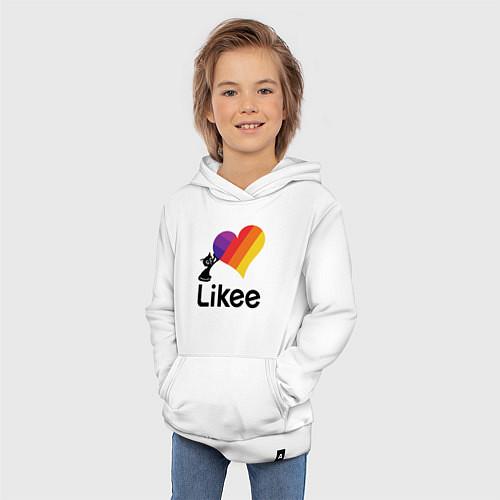 Детская толстовка-худи Likee LIKE Video / Белый – фото 3