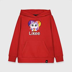 Толстовка детская хлопковая Likee LIKE Video цвета красный — фото 1