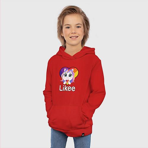 Детская толстовка-худи Likee LIKE Video / Красный – фото 3
