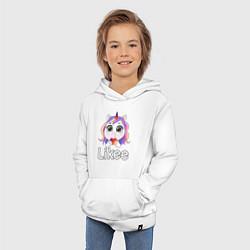 Толстовка детская хлопковая Likee LIKE Video цвета белый — фото 2