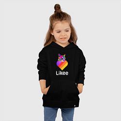 Толстовка детская хлопковая LIKEE CAT цвета черный — фото 2