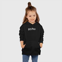 Толстовка детская хлопковая Harry Potter цвета черный — фото 2