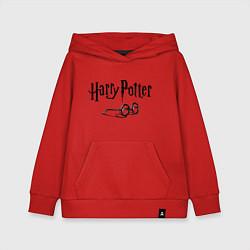 Толстовка детская хлопковая Гарри Поттер цвета красный — фото 1