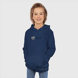 Толстовка детская хлопковая Buick цвета тёмно-синий — фото 2