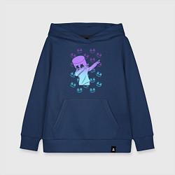 Толстовка детская хлопковая Fortnite,Marshmello цвета тёмно-синий — фото 1