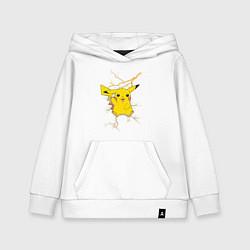 Толстовка детская хлопковая Pikachu цвета белый — фото 1