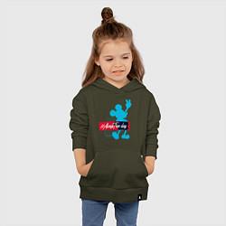 Толстовка детская хлопковая Disney Микки Маус цвета хаки — фото 2