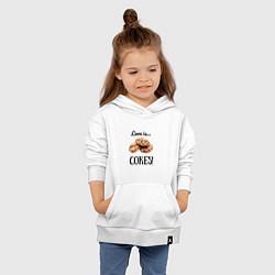 Толстовка детская хлопковая Печеньки цвета белый — фото 2