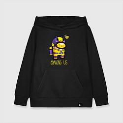Толстовка детская хлопковая Among Us Пчела цвета черный — фото 1