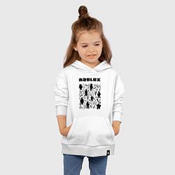 Толстовка детская хлопковая ROBLOX цвета белый — фото 2