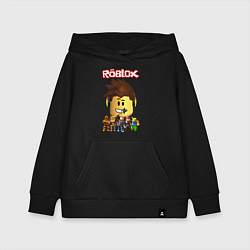 Толстовка детская хлопковая ROBLOX цвета черный — фото 1