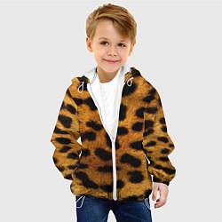 Куртка с капюшоном детская Шкура леопарда цвета 3D-белый — фото 2