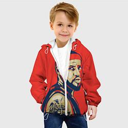 Детская 3D-куртка с капюшоном с принтом LeBron James, цвет: 3D-белый, артикул: 10105826005458 — фото 2