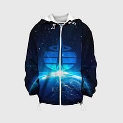 Куртка с капюшоном детская Космические войска цвета 3D-белый — фото 1