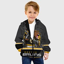 Детская 3D-куртка с капюшоном с принтом Boston Bruins, цвет: 3D-черный, артикул: 10106979205458 — фото 2