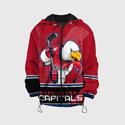 Куртка с капюшоном детская Washington Capitals цвета 3D-черный — фото 1