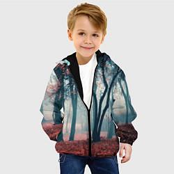 Куртка с капюшоном детская Осень цвета 3D-черный — фото 2