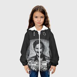 Куртка с капюшоном детская Pablo Escobar: Smile цвета 3D-белый — фото 2