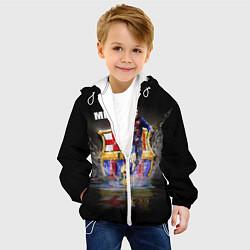 Детская 3D-куртка с капюшоном с принтом Messi FCB, цвет: 3D-белый, артикул: 10112080705458 — фото 2