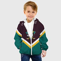 Детская 3D-куртка с капюшоном с принтом NHL: Anaheim Ducks, цвет: 3D-белый, артикул: 10112150905458 — фото 2
