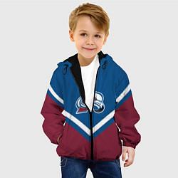 Куртка с капюшоном детская NHL: Colorado Avalanche цвета 3D-черный — фото 2