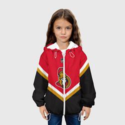 Детская 3D-куртка с капюшоном с принтом NHL: Ottawa Senators, цвет: 3D-белый, артикул: 10112239105458 — фото 2