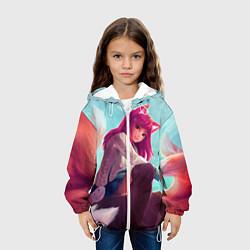 Детская 3D-куртка с капюшоном с принтом Cute, цвет: 3D-белый, артикул: 10112329405458 — фото 2