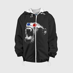 Куртка с капюшоном детская 3D Monkey цвета 3D-белый — фото 1