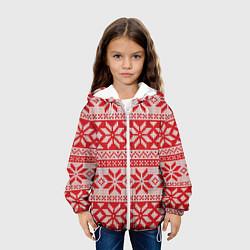 Куртка 3D с капюшоном для ребенка Красный свитер - фото 2