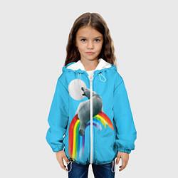Детская 3D-куртка с капюшоном с принтом Полярный мишка, цвет: 3D-белый, артикул: 10113449305458 — фото 2