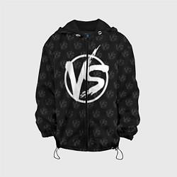 Детская 3D-куртка с капюшоном с принтом Versus, цвет: 3D-черный, артикул: 10114711405458 — фото 1