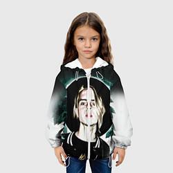 Детская 3D-куртка с капюшоном с принтом Pharaoh Face, цвет: 3D-белый, артикул: 10115244205458 — фото 2