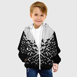 Куртка с капюшоном детская Птичий вихрь цвета 3D-белый — фото 2