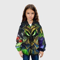 Детская 3D-куртка с капюшоном с принтом Вейгар, цвет: 3D-черный, артикул: 10117602805458 — фото 2