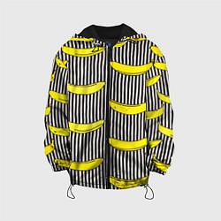 Детская 3D-куртка с капюшоном с принтом Bananas Lines, цвет: 3D-черный, артикул: 10133520905458 — фото 1