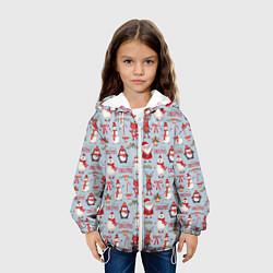 Детская 3D-куртка с капюшоном с принтом Рождественская Милота, цвет: 3D-белый, артикул: 10136480705458 — фото 2