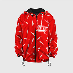 Куртка с капюшоном детская PUBG: Red Weapon цвета 3D-черный — фото 1