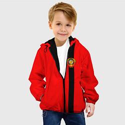 Детская 3D-куртка с капюшоном с принтом Советский Союз, цвет: 3D-черный, артикул: 10147227905458 — фото 2