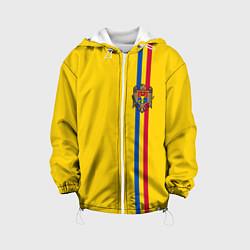 Куртка с капюшоном детская Молдавия: лента с гербом цвета 3D-белый — фото 1
